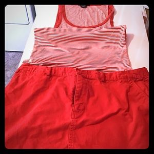 Polo Tank Top (XL) and Skirt (14)